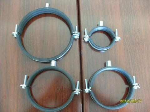 clamps, pipe clamps, clamps with rubber seals, clips, rings